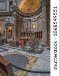 pantheon basilica  rome  italy...   Shutterstock . vector #1068549551