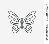 butterfly thin line icon. black ... | Shutterstock .eps vector #1068549674