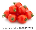 cocktail tomato path isolated | Shutterstock . vector #1068552521