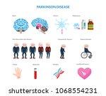 parkinson disease on male... | Shutterstock .eps vector #1068554231
