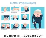 parkinson disease symptoms on... | Shutterstock .eps vector #1068555809