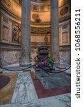 pantheon basilica  rome  italy...   Shutterstock . vector #1068556211