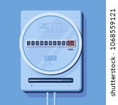blue watt hour electric meter | Shutterstock .eps vector #1068559121