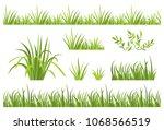 green grass seamless pattern....   Shutterstock .eps vector #1068566519