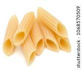 italian pasta isolated on white ... | Shutterstock . vector #1068570509
