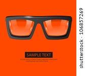 vector glasses orange background | Shutterstock .eps vector #106857269