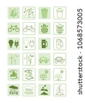 eco friendly energy icons.... | Shutterstock .eps vector #1068573005