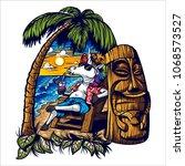 unicorn's holiday tshirt graphic | Shutterstock .eps vector #1068573527