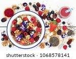 super food healthy breakfast... | Shutterstock . vector #1068578141