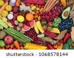 fruit and vegetable health food ... | Shutterstock . vector #1068578144