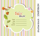 baby shower card | Shutterstock .eps vector #106858634