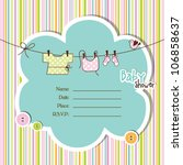 baby shower card | Shutterstock .eps vector #106858637