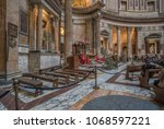 pantheon  rome  italy march 28  ...   Shutterstock . vector #1068597221