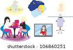 set of vector illustrations... | Shutterstock .eps vector #106860251