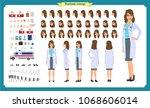 female doctor character... | Shutterstock .eps vector #1068606014