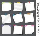 vector illustration of note... | Shutterstock .eps vector #1068607601