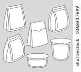 vector editable thin stroke...   Shutterstock .eps vector #1068617699