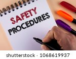 word writing text safety... | Shutterstock . vector #1068619937