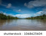 the amazon river  in south... | Shutterstock . vector #1068625604