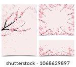 vector illustration sakura... | Shutterstock .eps vector #1068629897