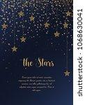 vector illustration of stars on ... | Shutterstock .eps vector #1068630041