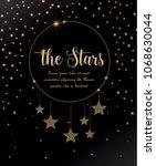 vector illustration of stars on ... | Shutterstock .eps vector #1068630044