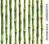 green bamboo stems seamless... | Shutterstock . vector #1068630191