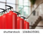 fire extinguishers available in ... | Shutterstock . vector #1068635081