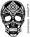 vector illustration of a skull  ... | Shutterstock .eps vector #106863779