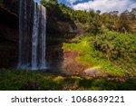 tad tayicseua waterfall on the... | Shutterstock . vector #1068639221