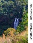 tad tayicseua waterfall on the... | Shutterstock . vector #1068639239