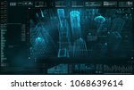 advance motion graphic... | Shutterstock . vector #1068639614