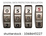 gdpr info banner. general data... | Shutterstock .eps vector #1068645227