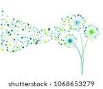 blue aquamarine green vector... | Shutterstock .eps vector #1068653279