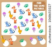 count the animal games for kid. ... | Shutterstock .eps vector #1068653327