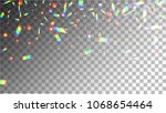 holographic background with... | Shutterstock .eps vector #1068654464