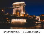 night view of a famous budapest ... | Shutterstock . vector #1068669059