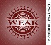 weak red emblem | Shutterstock .eps vector #1068670145