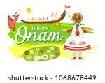happy onam holiday banner ...   Shutterstock .eps vector #1068678449