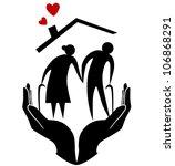 elderly protection | Shutterstock .eps vector #106868291