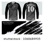 long sleeve soccer jerseys t... | Shutterstock .eps vector #1068684935