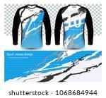 long sleeve soccer jerseys t... | Shutterstock .eps vector #1068684944