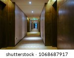 interior of hotel corridor | Shutterstock . vector #1068687917