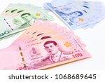 3 kinds of new thai baht...   Shutterstock . vector #1068689645