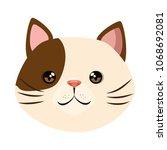 Stock vector cute cat mascot head character 1068692081