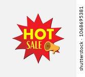 vector badge icon sale market... | Shutterstock .eps vector #1068695381