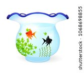 goldfish summer water icon | Shutterstock .eps vector #1068698855