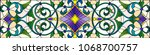 illustration in stained glass... | Shutterstock .eps vector #1068700757