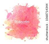 modern pink watercolor... | Shutterstock .eps vector #1068714344