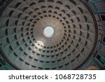 pantheon's coffered dome in...   Shutterstock . vector #1068728735